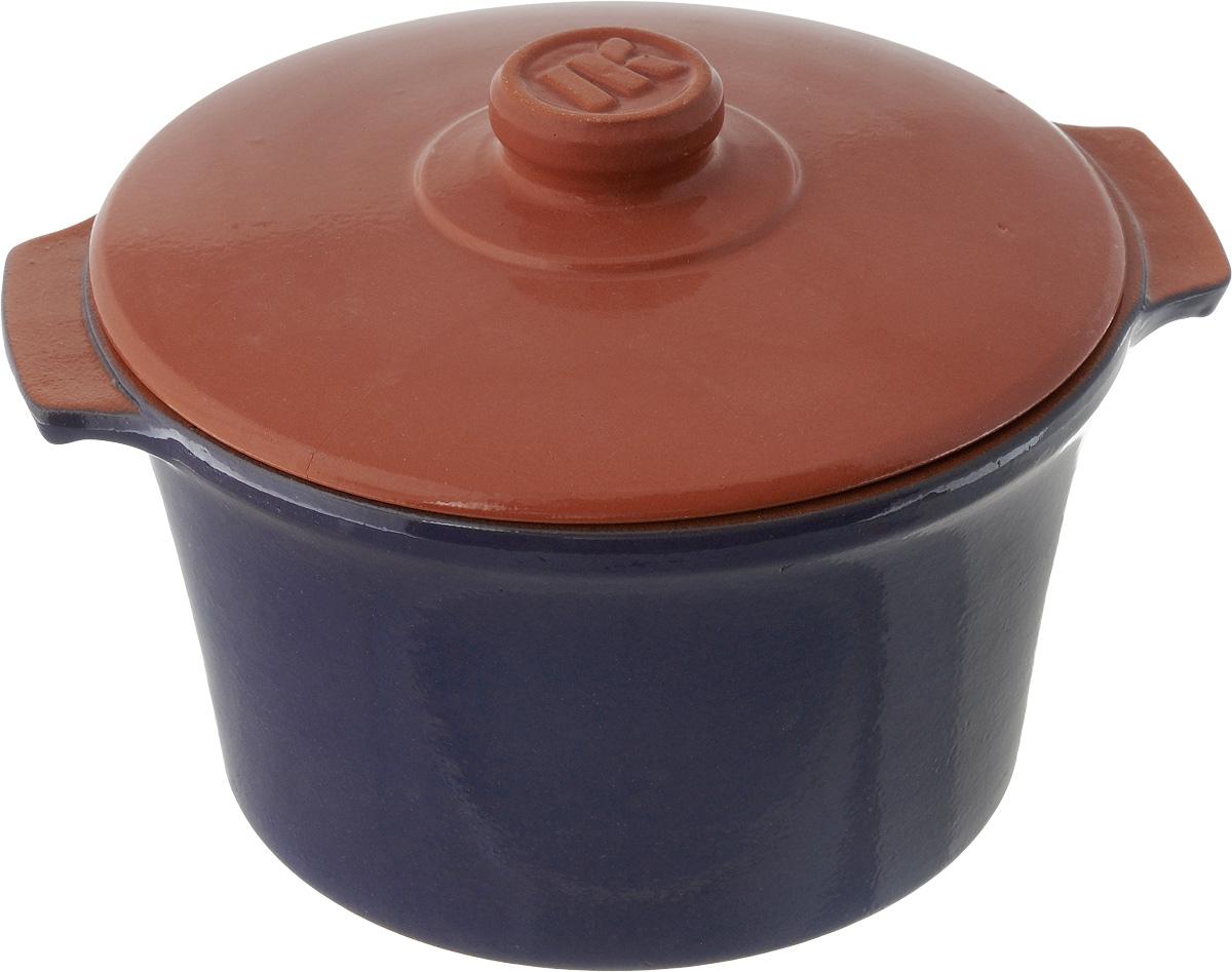 Кастрюля керамическая Ломоносовская керамика Огонек с крышкой, цвет: синий, 3 л1КТс-3Кастрюля Ломоносовская керамика Огонек выполнена из высококачественной термостойкой керамики. Покрытие абсолютно безопасно для здоровья, не содержит вредных веществ. Кастрюля оснащена удобными боковыми ручками и керамической крышкой. Она плотно прилегает к краям посуды, сохраняя аромат блюд. Кастрюля предназначена для использования на всех типах плит. Для использования на индукционных плитах требуется специальный диск. Благодаря термостойкости материала, кастрюлю можно использовать в духовке и СВЧ. Разрешено мыть в посудомоечной машине. Внутренний диаметр: 20,5 см. Внешний диаметр: 21,5 см. Высота стенки: 12,5 см. Толщина стенки: 7 мм. Диаметр дна: 16,5 см, Ширина кастрюли (с учетом ручек): 25,5 см. Диаметр крышки: 21 см.