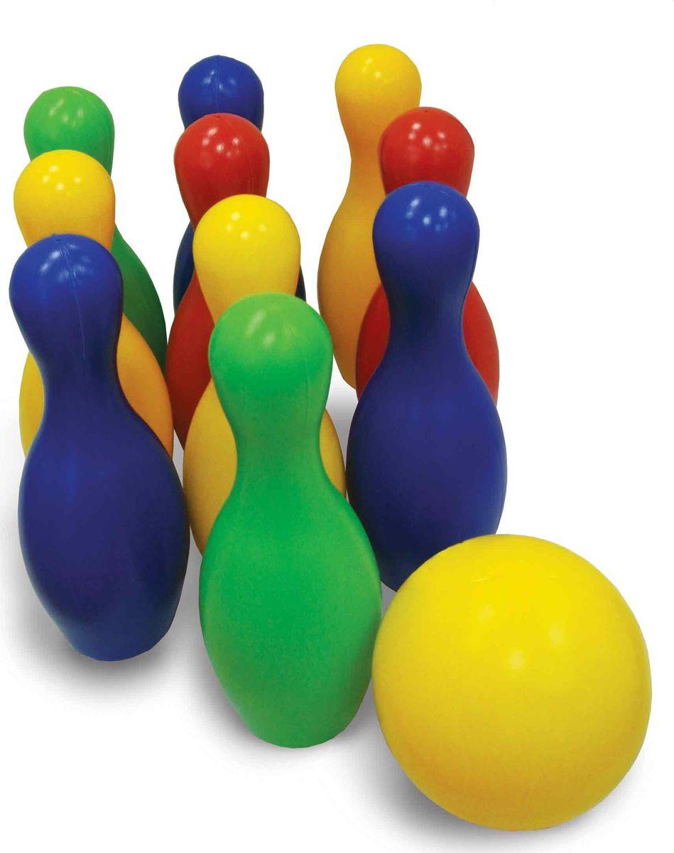 Улыбка Игровой набор Боулинг 6 кеглей и мяч