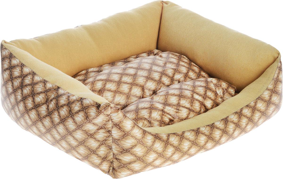 Лежак для собак Happy Puppy Шотландия-2, 48 х 39 х 15 смHP-170008-2Мягкий лежак Happy Puppy Классик-2 обязательно понравится вашему питомцу. Он выполнен из высококачественного хлопка и полиэстера с водоотталкивающей пропиткой, а наполнитель - из мягкого холлофайбера. Такой материал не теряет своей формы долгое время. Лежак оснащен мягкой съемной подстилкой. Высокие бортики обеспечат вашему любимцу уют. За изделием легко ухаживать, его можно стирать вручную. Мягкий лежак станет излюбленным местом вашего питомца, подарит ему спокойный и комфортный сон, а также убережет вашу мебель от шерсти. Размер: 48 x 39 x 15 см.