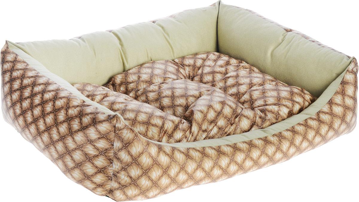 Лежак для собак Happy Puppy Шотландия-3, 57 x 44 x 15 смHP-170008-3Мягкий лежак Happy Puppy Ампир-3 обязательно понравится вашему питомцу. Он выполнен из высококачественного хлопка и полиэстера с водоотталкивающей пропиткой, а наполнитель - из мягкого холлофайбера. Такой материал не теряет своей формы долгое время. Лежак оснащен мягкой съемной подстилкой. Высокие бортики обеспечат вашему любимцу уют. За изделием легко ухаживать, его можно стирать вручную. Мягкий лежак станет излюбленным местом вашего питомца, подарит ему спокойный и комфортный сон, а также убережет вашу мебель от шерсти. Размер: 57 x 44 x 15 см.