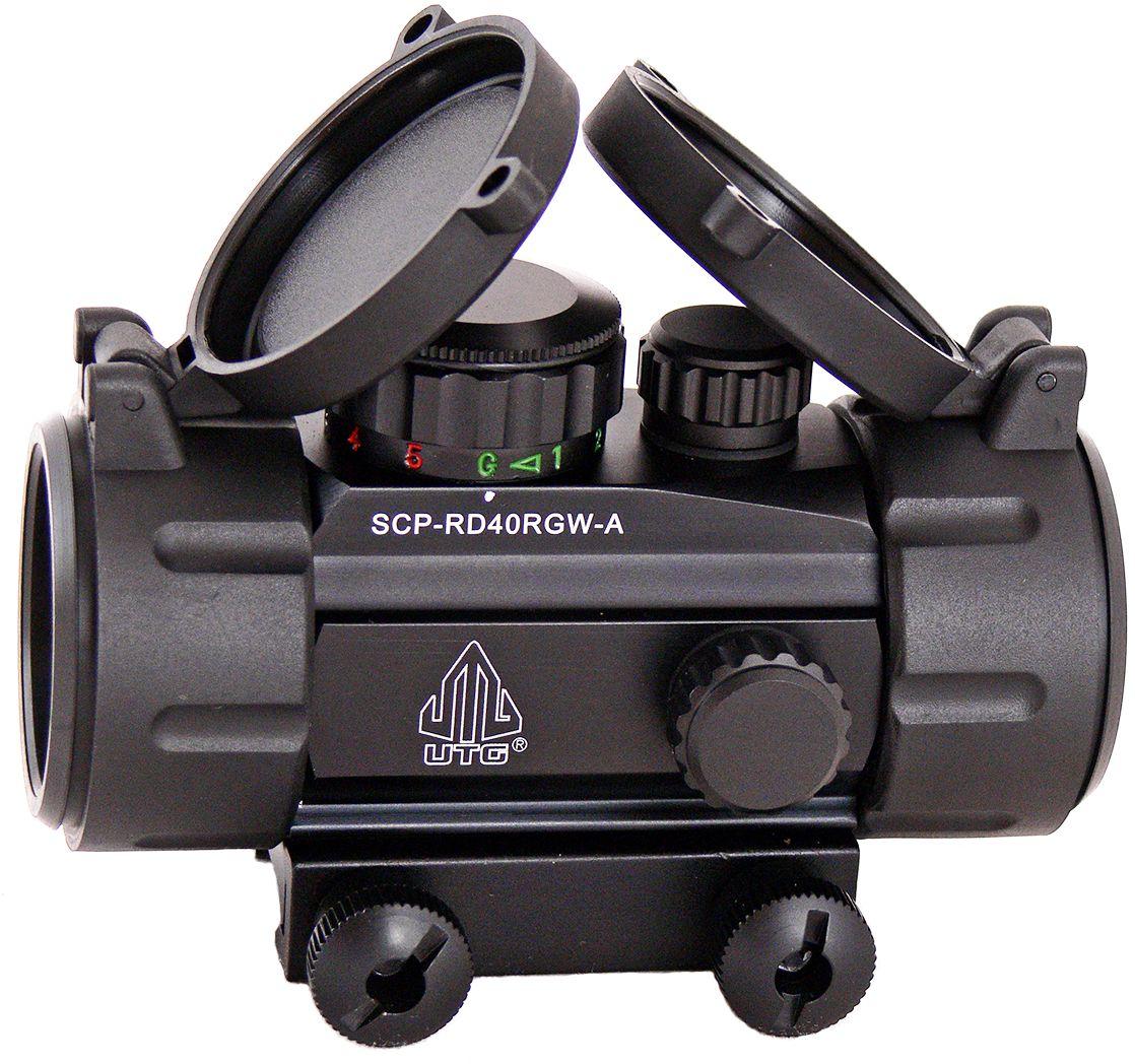 Прицел коллиматорный UTG Leapers New Gen 1x30 закрытыйSCP-RD40RGW-AКоллиматор Leapers UTG New Gen 1x30 закрытый. Арт. SCP-RD40RGW-A Компания Leapers, Inc. расположенная в штате Мичиган, производит и продает прицелы для спорта и охоты начиная с 1992 года. Продукция разработана в США и изготовлена под строгим контролем на производствах в США или в Азиатском регионе. Дилерская сеть компании включает в себя более 70 стран, где бренд Leapers (UTG) доказал, что он один из лучших по соотношению цена/качество и заслуживает доверия потребителя. Эта модель представляет собой небольшой коллиматорный прицел для установки на боевые модели карабинов и пистолетов, а также на охотничьи ружья, оснащенные планкой Weaver/Picatinny. Тип: закрытый Увеличение (х): 1 Прицельная марка: точка Подсветка прицельной марки: 2 цвета (красный/зеленый), 5 уровней яркости Диаметр объектива: 30 мм Диаметр трубки прицела: 38 мм Длина прицела: 95 мм Материал: высокопрочный авиационный алюминиевый сплав Тип батареи: CR2032 3V ...