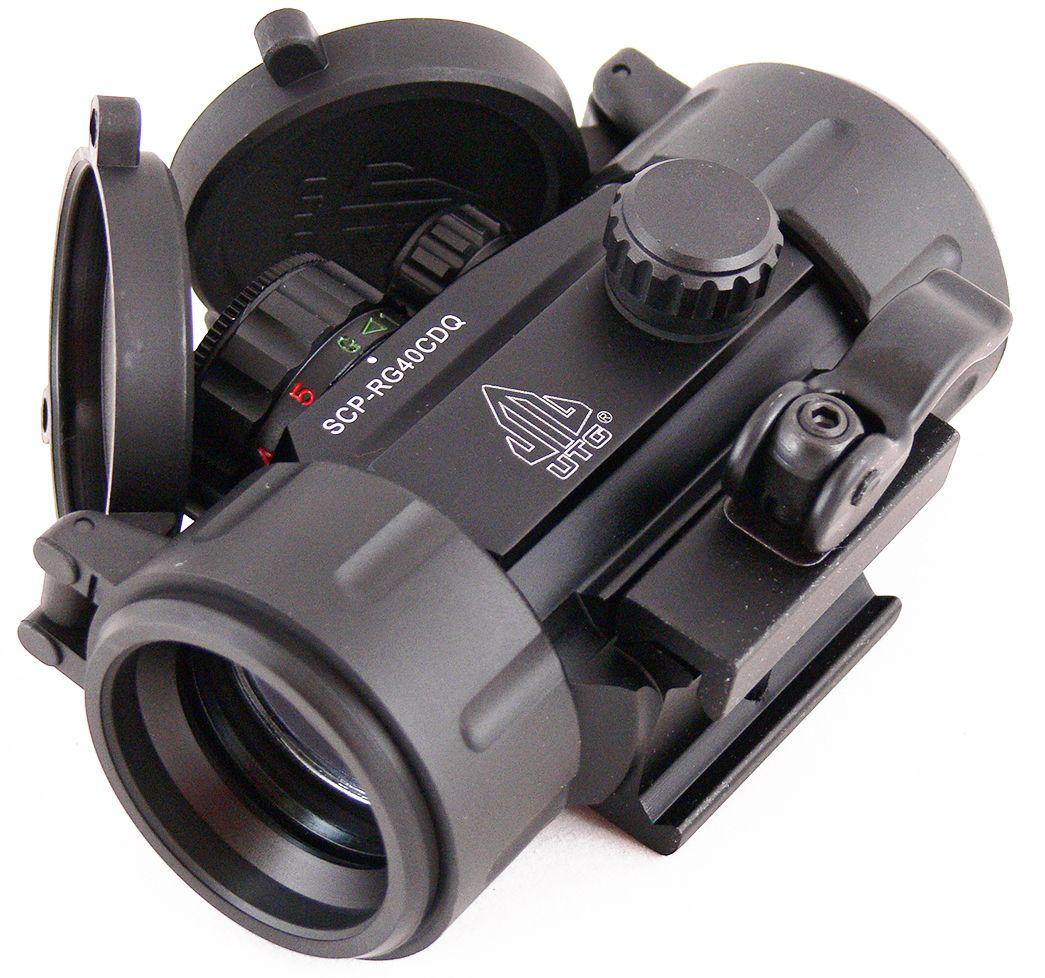Прицел коллиматорный UTG Leapers 1x30, закрытый, круг с точкойSCP-RG40CDQКоллиматор Leapers UTG 1x30, закрытый, круг с точкой. Арт. SCP-RG40СDQ Компания Leapers, Inc. расположенная в штате Мичиган, производит и продает прицелы для спорта и охоты начиная с 1992 года. Продукция разработана в США и изготовлена под строгим контролем на производствах в США или в Азиатском регионе. Дилерская сеть компании включает в себя более 70 стран, где бренд Leapers (UTG) доказал, что он один из лучших по соотношению цена/качество и заслуживает доверия потребителя. Эта модель представляет собой небольшой коллиматорный прицел для установки на боевые модели карабинов и пистолетов, а также на охотничьи ружья, оснащенные планкой Weaver/Picatinny. Тип: закрытый Увеличение (х): 1 Прицельная марка: круг с точкой Подсветка прицельной марки: 2 цвета (красный/зеленый), 5 уровней яркости Диаметр объектива: 30 мм Диаметр трубки прицела: 38 мм Длина прицела: 95 мм Материал: высокопрочный авиационный алюминиевый сплав Тип батареи:...