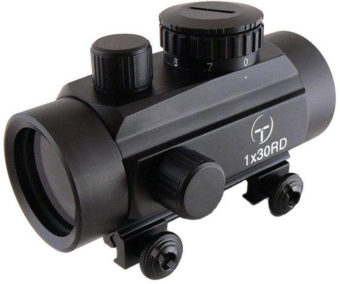 Прицел коллиматорный Target Optic 1x30, закрытый на Weaver, марка - точкаTO-1-30Коллиматор Target Optic 1x30 закрытый на Weaver, марка - точка. Арт. TO-1-30 Коллиматорный прицел Target Optic 1x30 закрытого типа с семью уровнями подсветки предназначен для установки на гладкоствольное и нарезное оружие, а также на пневматическое, с энергией не более 7,5 Дж. Cистема монтажа позволяет устанавливать прицел на любое оружие, оборудованное стандартной базой Weaver/Picatinny. Крепится на оружие с помощью двух винтов на расстоянии от 5 до 40 см от глаза стрелка до окуляра прицела. Верхний и боковой пристрелочные винты регулируют точку прицеливания. Щелчок пристрелочного винта соответствует смещению точки попадания на 12-15мм на дистанции 100м. Оснащен регулятором яркости прицельной марки, который позволяет изменять интенсивность подсветки в пределах 7 уровней, что важно для качественной подстройки прицела под определенный вид охоты. Линзы прицела имеют специальное покрытие, которое защищает их от запотевания и от мелких повреждений. Качественная...