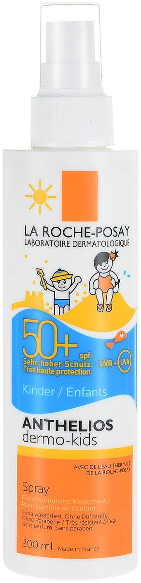La Roche Posay Спрей для детей Anthelios Дермо-Кидс SPF50+, 200 млM4646103Cистема солнечных фильтров Mexoplex обеспечивают усиленную фотостабильную защиту от негативного воздействия UVB/UVA лучей. Средство отвечает более строгим требованиям, чем Европейский стандарт, для предупреждения негативного воздействия UVA лучей на кожу. Содержит термальную воду La Roche-Posay, богатую селеном, природным антиоксидантом. Формула разработана с применением ингредиентов, тщательно отобранных для полной безопасности кожи младенцев. Обогащена натуральным экстрактом масла Карите для увлажнения, смягчения и усиления естественного защитного барьера кожи. Устойчив к действию воды в течение 40 минут. Формула продукта эффективна на открытом солнце до 6 часов. Для детей с трех лет.