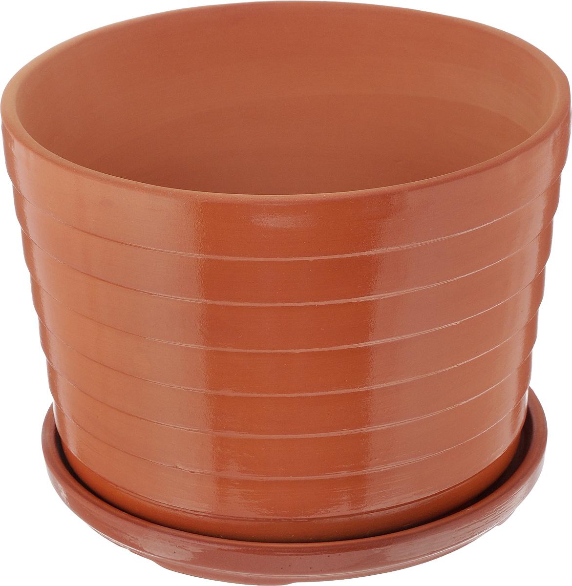 Горшок для цветов Ломоносовская керамика Риф, с поддоном, 3,5 л3Цр3-3Горшок Ломоносовская керамика Риф изготовлен из высококачественной керамики и оснащен поддоном для стока воды. Изделие прекрасно подойдет для выращивания растений дома и на приусадебных участках. Диаметр (по верхнему краю): 22 см. Высота (с поддоном): 16 см. Размер поддона: 21 х 21 х 2 см.