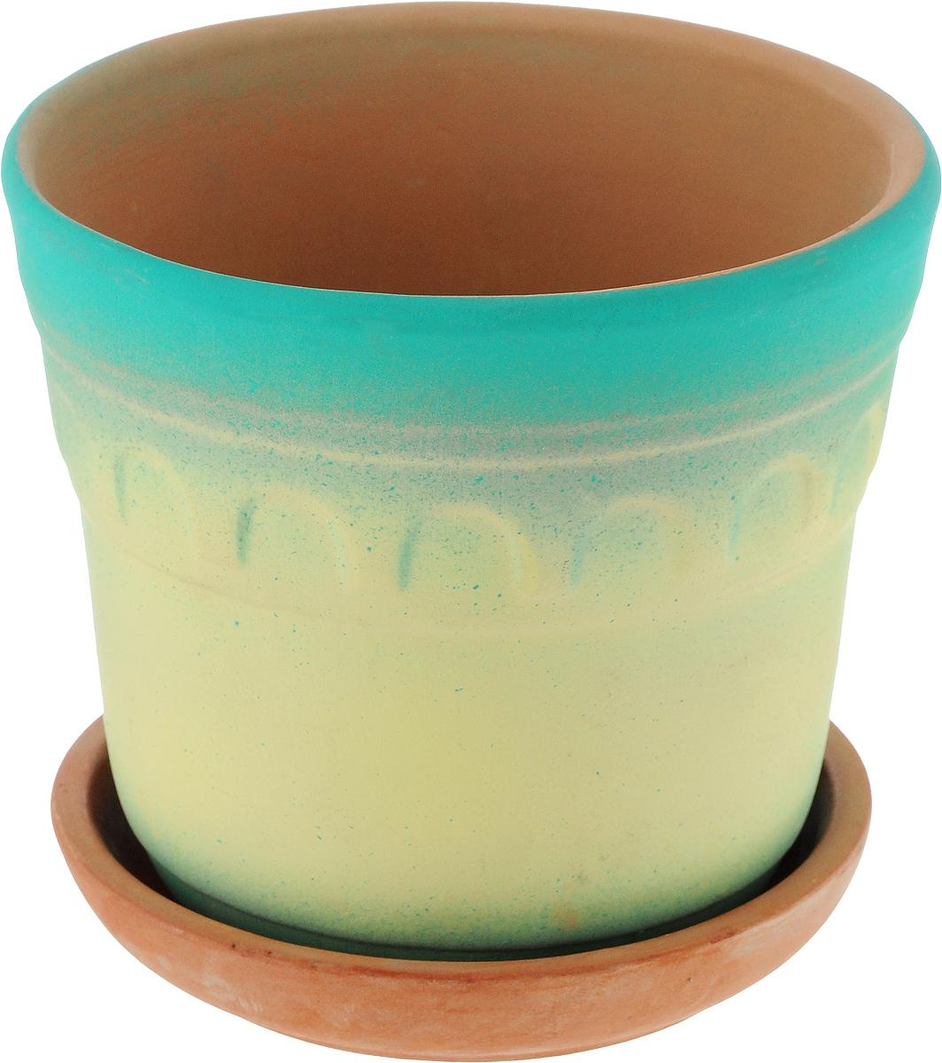 Горшок для цветов Ломоносовская керамика Элин, диаметр 14 см3Це3-1Горшок с поддоном Ломоносовская керамика Элин выполнен из керамики. Внешние стенки изделия покрыты глазурью. Стенки имеют рельефный узор и окрашены в яркие цвета. Горшок предназначен для выращивания цветов, растений и трав. Он порадует вас функциональностью, а также украсит интерьер помещения. Диаметр горшка (по верхнему краю): 14 см. Высота горшка: 12 см. Размер поддона: 12 х 12 х 3 см.