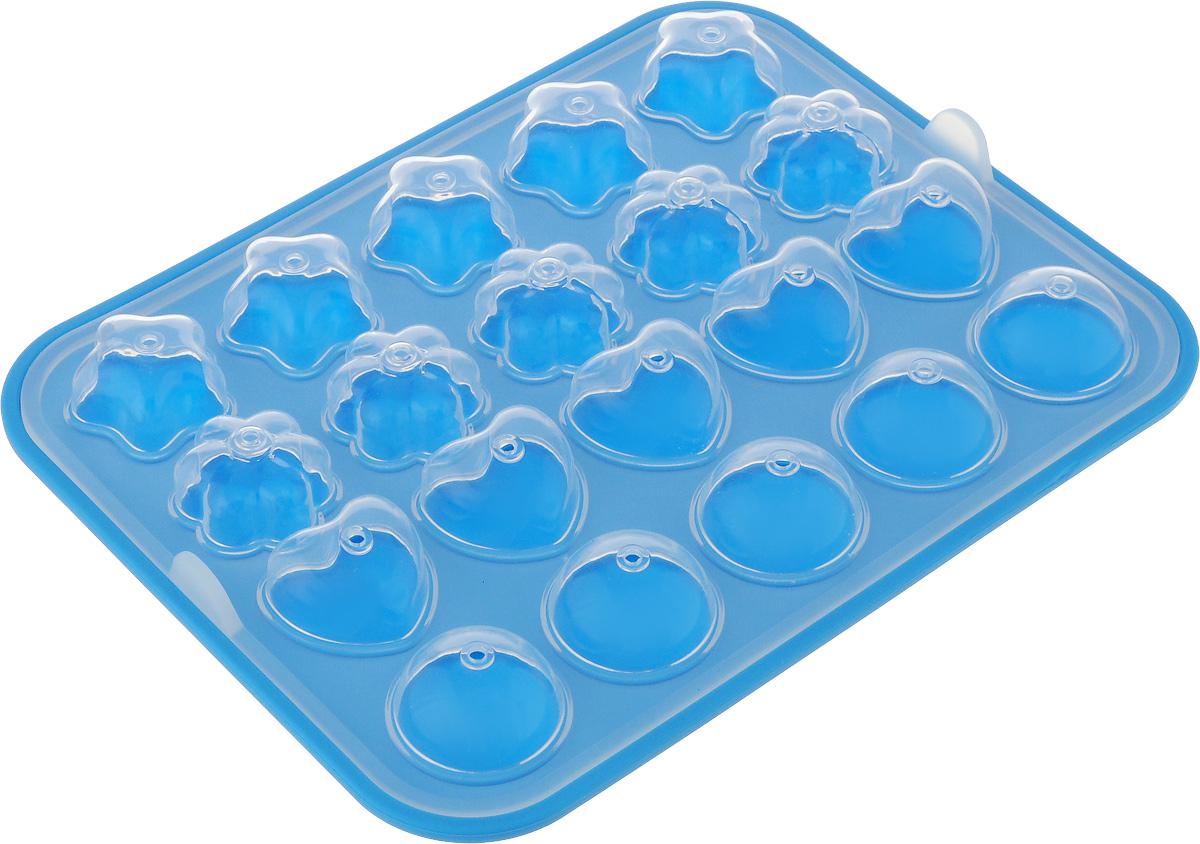 Набор для выпечки кейк-попсов Oursson Baby, цвет: прозрачный, голубой. BW2211SBW2211S/AZНабор для выпечки кейк-попсов Oursson Baby, изготовленный из 100% силикона, поможет вам получить профессиональные и красивые изделия в домашних условиях. Набор состоит из формы и палочек. Форма обладает антипригарными свойствами, ее легко использовать, мыть и хранить. Отделять готовые изделия от формочек несложно, при этом не надо смазывать их жиром или маслом. Форма состоит из двух частей. Изделие имеет 5 круглых ячеек, 5 ячеек в виде сердечка, 5 ячеек в виде цветочки и 5 ячеек в виде звездочки. Кейк-поп (англ. cake pop, дословно торт на палке) - один из видов кондитерских изделий, мини-тортики на палочке. Можно мыть в посудомоечной машине и использовать в микроволновой печи. Размер формы: 22 х 18 х 1,5 см. Диаметр круглой ячейки: 3,2 см. Размер ячейки-сердечка:3,2 х 2,9 см. Размер ячейки-цветочка: 3 х 2,5 см. Размер ячейки-звездочки: 3,2 х 3 см. Длина палочки: 10 см.
