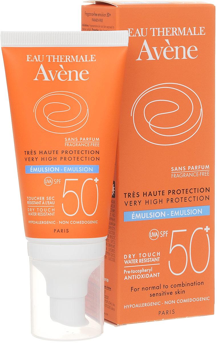 Avene Солнцезащитная эмульсия SPF50+, 50 млC51232Обеспечивает защиту чувствительной кожи даже при постоянном воздействии прямых солнечных лучей. Мощные антиоксиданты в составе формулы нейтрализуют свободные радикалы. Водостойкое средство с фотостабильной формулой гарантирует оптимальную защиту от коротких и длинных УФ-лучей. Уникальная упаковка для того, чтобы средство было всегда под рукой. Легко помещается в сумку.