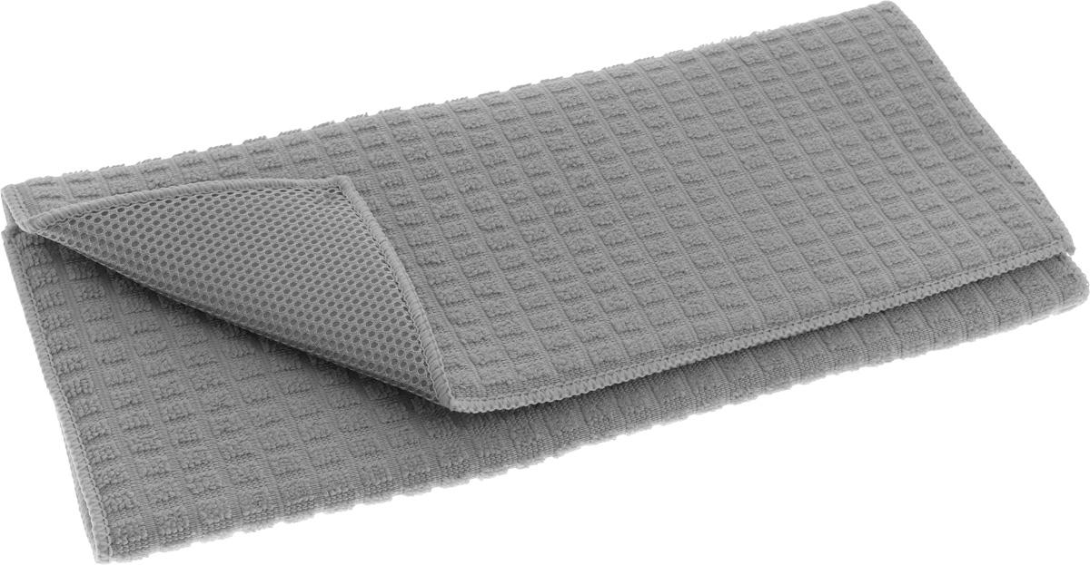 Коврик для сушки посуды Tescoma Presto Tone, цвет: серый, 50 х 39 см639790_серыйКоврик для сушки посуды Tescoma Presto Tone, выполненный из высокоабсорбирующей и быстро сохнущей микрофибры. Эффективно поглощающий материал надежно фиксирует воду, мягкая текстильная поверхность защищает стаканы, столовые приборы, инструменты и посуду от повреждений. Можно после использования свернуть или сложить Ваша посуда высохнет быстрее, если после мойки вы поместите ее на легкую, современную сушилку. Коврик для сушки посуды Tescoma Presto Tone станет незаменимым атрибутом на вашей кухне. Размер коврика: 50 х 39 см.
