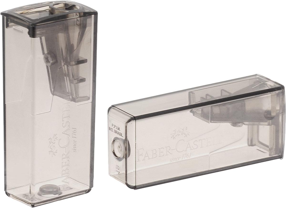 Faber-Castell Точилка флуоресцентная 2 шт цвет серый263332_серыйТочилки Faber-Castell предназначены для затачивания карандашей диаметром 8 мм. Полупрозрачные контейнеры позволяют визуально определить уровень заполнения и вовремя произвести очистку. Острые лезвия обеспечивают высококачественную и точную заточку деревянных карандашей. В комплекте две точилки серого цвета.