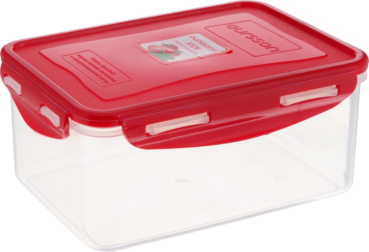 Контейнер Oursson, прямоугольный, 1,5 лCP1503S/RDКонтейнер Oursson изготовлен из высококачественного пластика. Изделие идеально подходит не только для хранения, но и для транспортировки пищи. Контейнер имеет крышку, которая плотно закрывается на 4 защелки и оснащена специальной силиконовой прослойкой, предотвращающей проникновение влаги, запахов и вытекание жидкости. Изделие подходит для домашнего использования, для пикников, поездок, отдыха на природе, его можно взять с собой на работу или учебу. Выдерживают температуру от -24°С до +125°С. Можно использовать в СВЧ-печах, холодильниках и морозильных камерах. Можно мыть в посудомоечной машине. Размер контейнера (без учета крышки): 20 х 13,5 см. Высота контейнера (без учета крышки): 8,5 см.