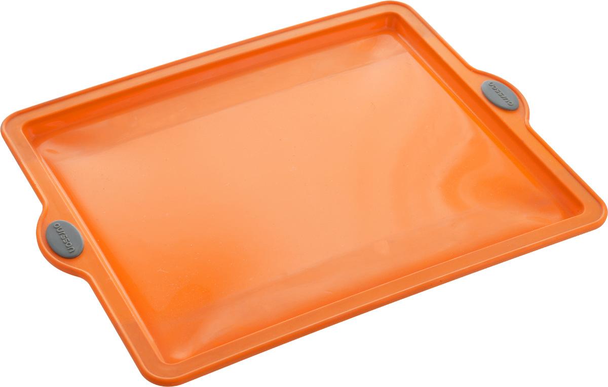 Форма для выпечки Oursson Противень, цвет: оранжевый, 38 х 28,5 х 1,7 смBW3804S/ORФорма Oursson Противень выполнена из экологически чистого силикона с жестким металлическим каркасом и предназначена для приготовления выпечки. Материал позволяет быстро и легко извлекать приготовленное изделие. Изделие оснащено удобными ручками. Выдерживает температуру от -20°С до +220°С. Можно использовать в микроволновой печи, духовке и морозильной камере. Можно мыть в посудомоечной машине.