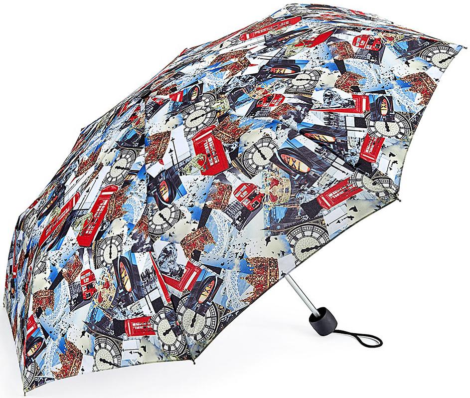 Зонт женский Fulton, механический, 3 сложения, цвет: мультиколор. L354-3327L354-3327 LondonPhotographicСтильный механический зонт Fulton имеет 3 сложения, даже в ненастную погоду позволит вам оставаться стильной. Легкий, но в тоже время прочный алюминиевый каркас состоит из восьми спиц с элементами из фибергласса. Купол зонта выполнен из прочного полиэстера с водоотталкивающей пропиткой. Рукоятка закругленной формы, разработанная с учетом требований эргономики, выполнена из каучука. Зонт имеет механический способ сложения: и купол, и стержень открываются и закрываются вручную до характерного щелчка.