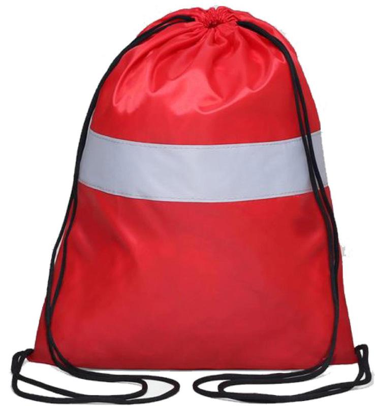 Антей Сумка-мешок для сменной обуви и одежды со светоотражающей полосой цвет красныйЯ-104Сумка-мешок для обуви и одежды со светоотражающей полосой. Предназначен для школьников и дошкольников. Размер 43 см Х 32 см