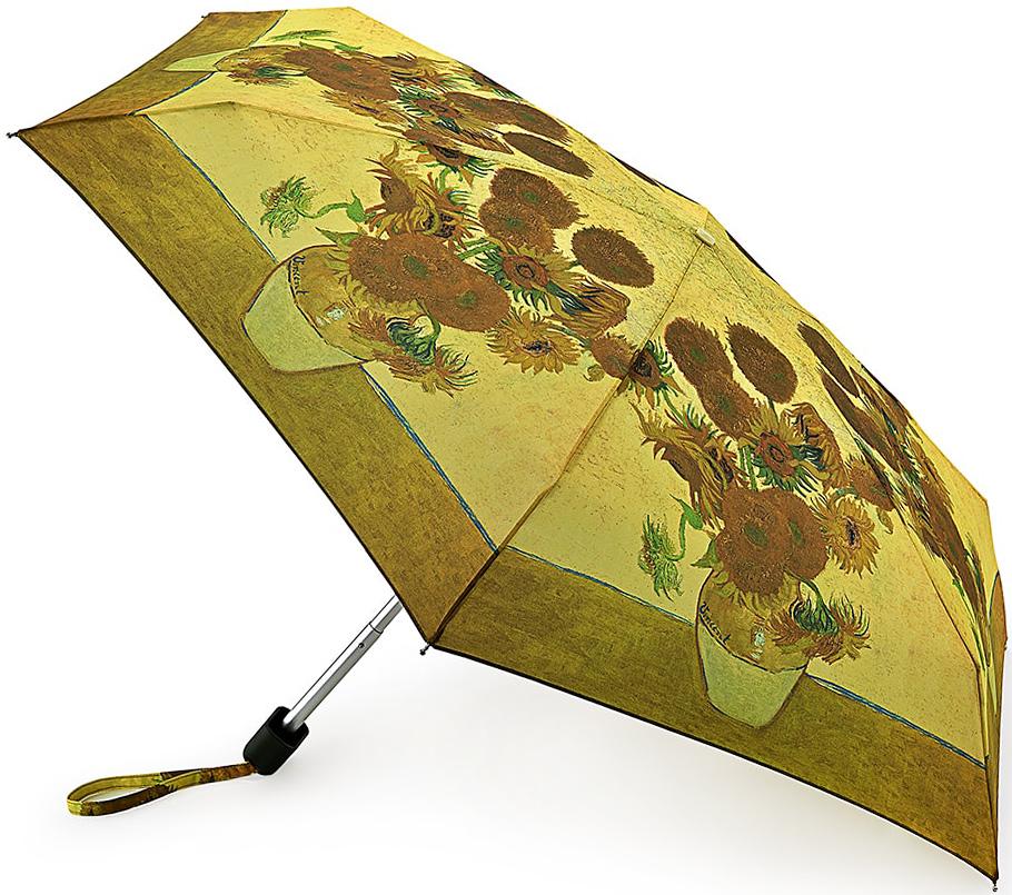 Зонт женский Fulton, механический, 5 сложений, цвет: золотисто-бежевый. L794-2348L794-2348 SunflowerСтильный механический зонт Fulton имеет 5 сложений, даже в ненастную погоду позволит вам оставаться стильной. Легкий, но в тоже время прочный алюминиевый каркас состоит из шести спиц с элементами из фибергласса. Купол зонта выполнен из прочного полиэстера с водоотталкивающей пропиткой. Рукоятка закругленной формы, разработанная с учетом требований эргономики, выполнена из каучука. Зонт имеет механический способ сложения: и купол, и стержень открываются и закрываются вручную до характерного щелчка.