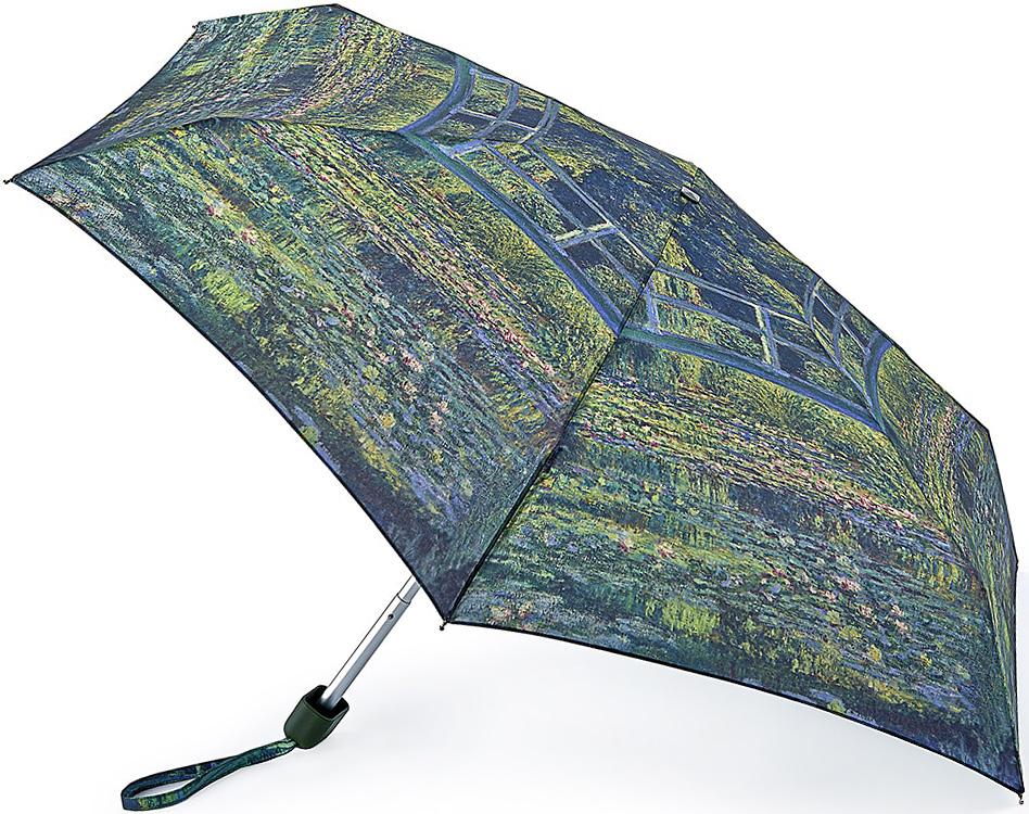 Зонт женский Fulton, механический, 5 сложений, цвет: зеленый. L794-2349L794-2349 MonetСверхкомпактный (15х6х3см) зонт. Ветроустойчивый плоский алюминиевый каркас в 5 сложений, 6 спиц с элементами из фибергласса, материал купола - полиэстер, диаметр - 87см. Вес 158 гр.
