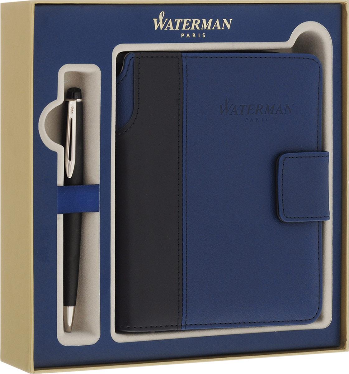 Waterman Ручка шариковая Expert Matte Black CTWAT-1978715Корпус ручки Waterman Expert Matte Black CT выполнен из хрома насыщенного черного цвета и декорирован отделкой с никеле-палладиевым покрытием. Стержень шариковой ручки выводится поворотом ее верхней части по часовой стрелке. Ручка упакована в фирменную коробку синего цвета с логотипом компании Waterman. В коробке предусмотрено дополнительное отделение, в котором расположен международный гарантийный талон и блокнот с тканевой закладкой-полоской и магнитной застежкой. Ручка Waterman Expert Matte Black CT подчеркнет стиль и элегантность ее владельца и станет превосходным подарком ценителю изящества и роскоши. Ручка - это не просто пишущий инструмент, это - часть имиджа, наглядно демонстрирующая статус, характер и образ жизни ее владельца