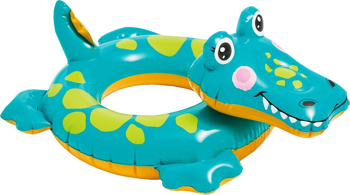 Intex Надувной круг Крокодил 76 см х 56 см