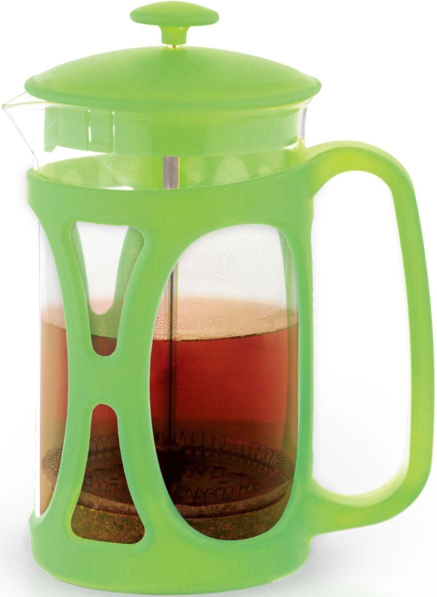 Заварочный чайник Fissman Opera, с поршнем, цвет: зеленый чай, 350 мл. 9034FP-9034.350
