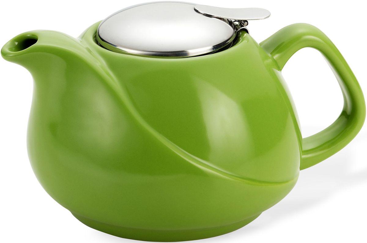 Заварочный чайник Fissman, с ситечком, цвет: зеленый, 750 мл. 9197TP-9197.750