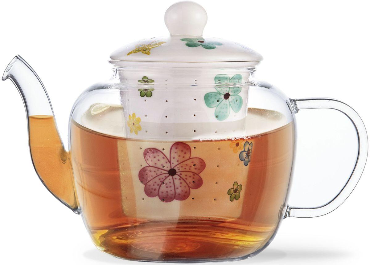 Заварочный чайник Fissman Casablanca, с керамическим фильтром и крышкой, 800 мл. 9272TP-9272.800