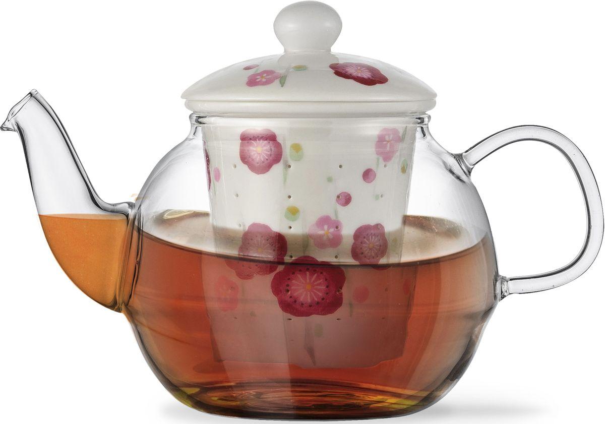 Заварочный чайник Fissman Casablanca, с керамическим фильтром и крышкой, 600 мл. 9276TP-9276.600