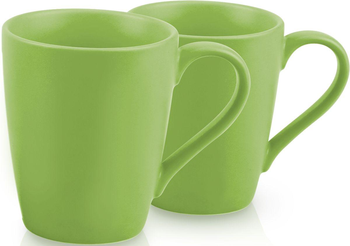 Комплект кружек Fissman, цвет: зеленый, 300 мл, 2 шт. 9333SC-9333.300