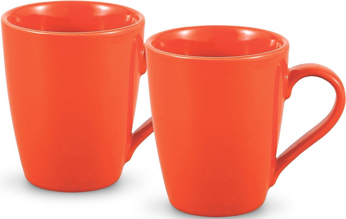 Комплект кружек Fissman, цвет: оранжевый, 300 мл, 2 шт. 9338SC-9338.300