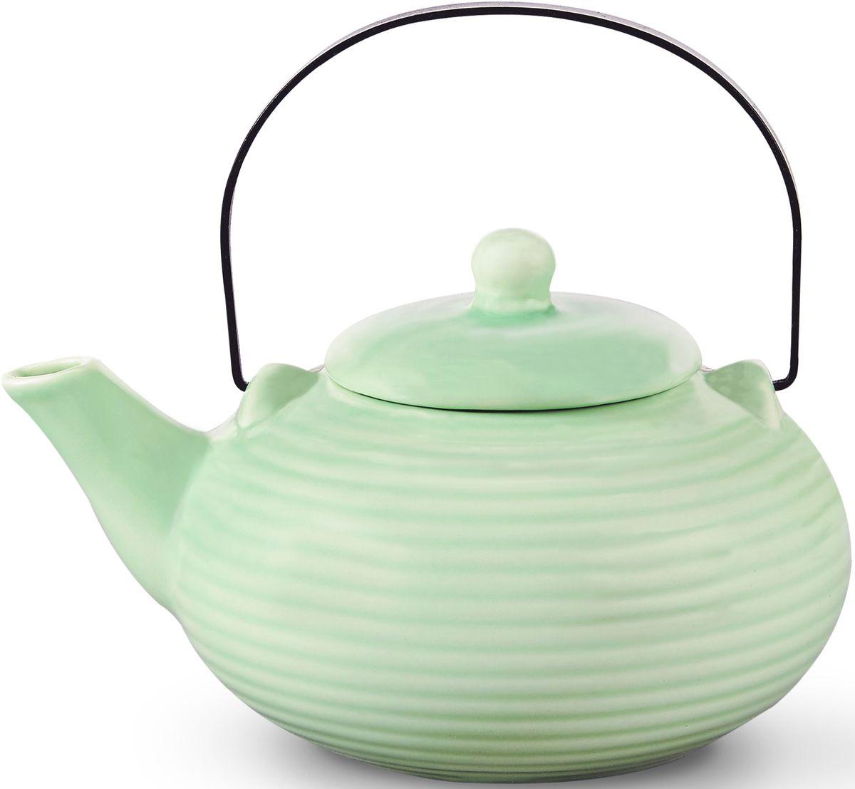 Заварочный чайник Fissman, с ситечком, цвет: ледяной зеленый, 750 мл. 9348TP-9348.750