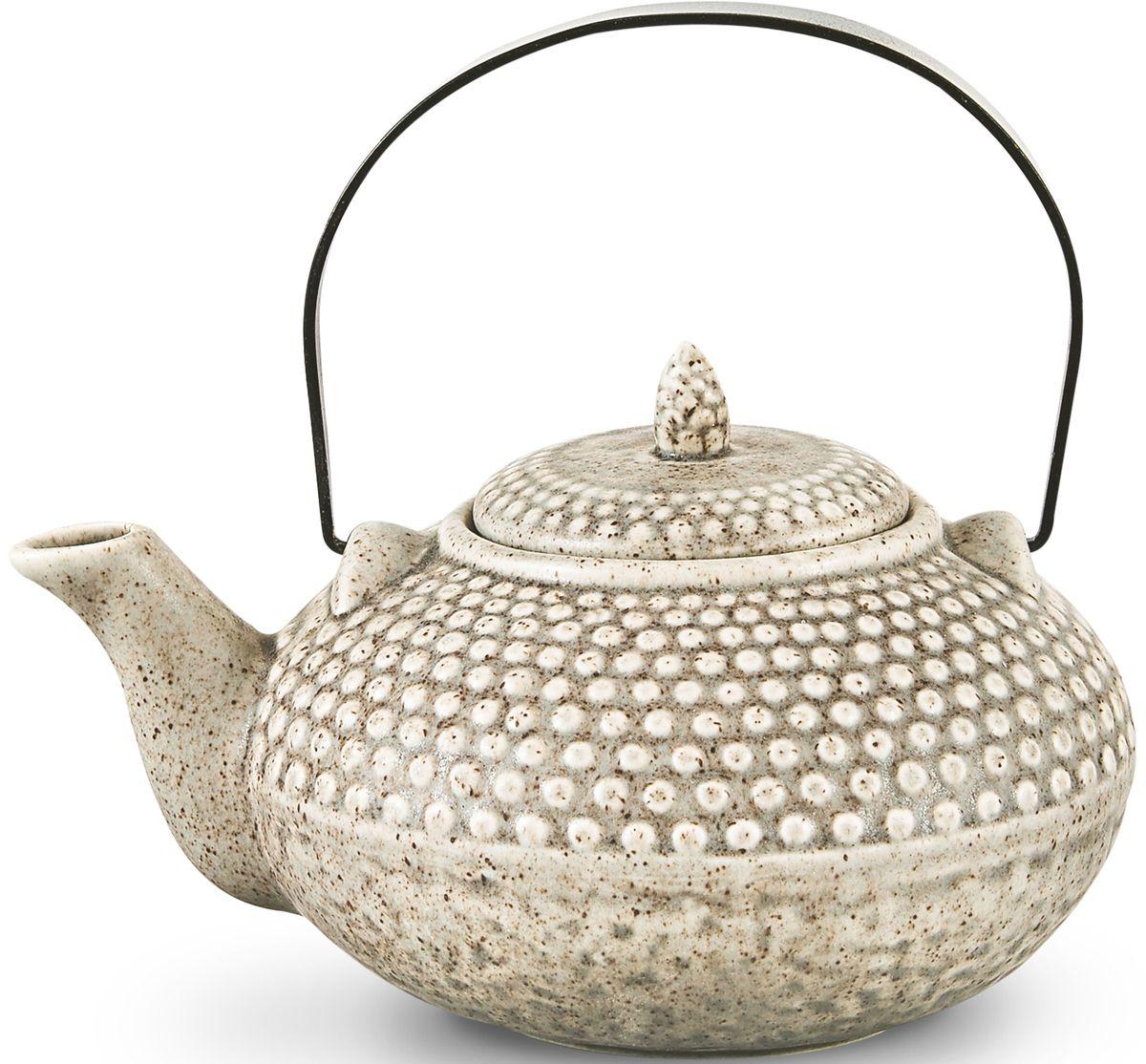 Заварочный чайник Fissman, с ситечком, цвет: серый песочный, 750 мл. 9349TP-9349.750