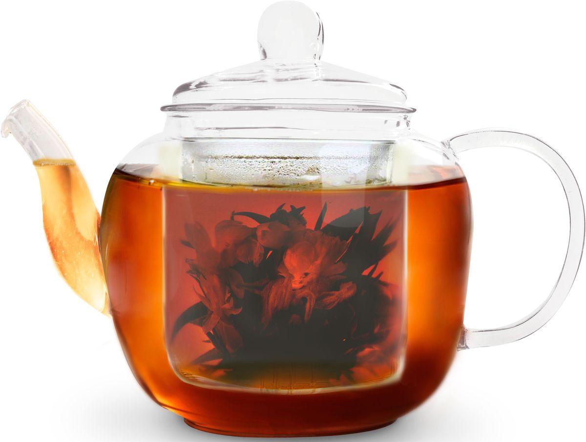 Заварочный чайник Fissman Lucky, со стеклянным фильтром, 1000 мл. 9360TP-9360.1000