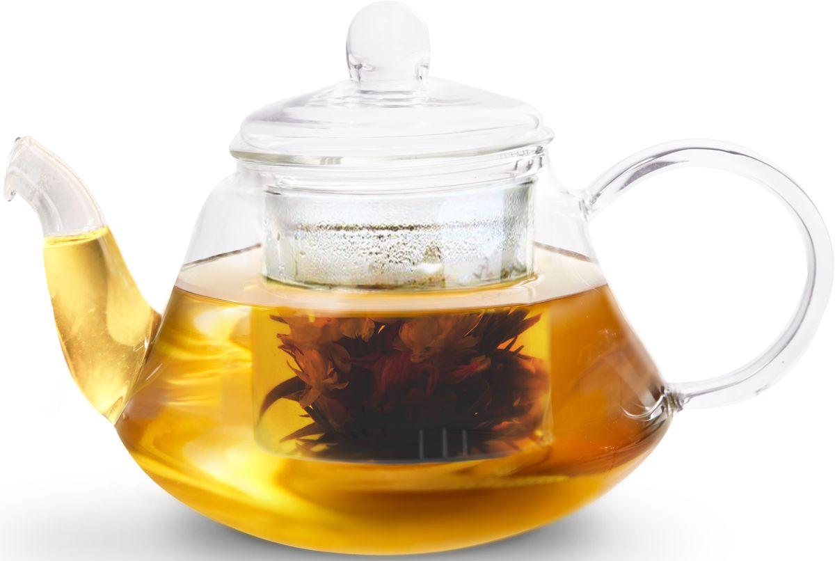 Заварочный чайник Fissman Lucky, со стеклянным фильтром, 1000 мл. 9363TP-9363.1000