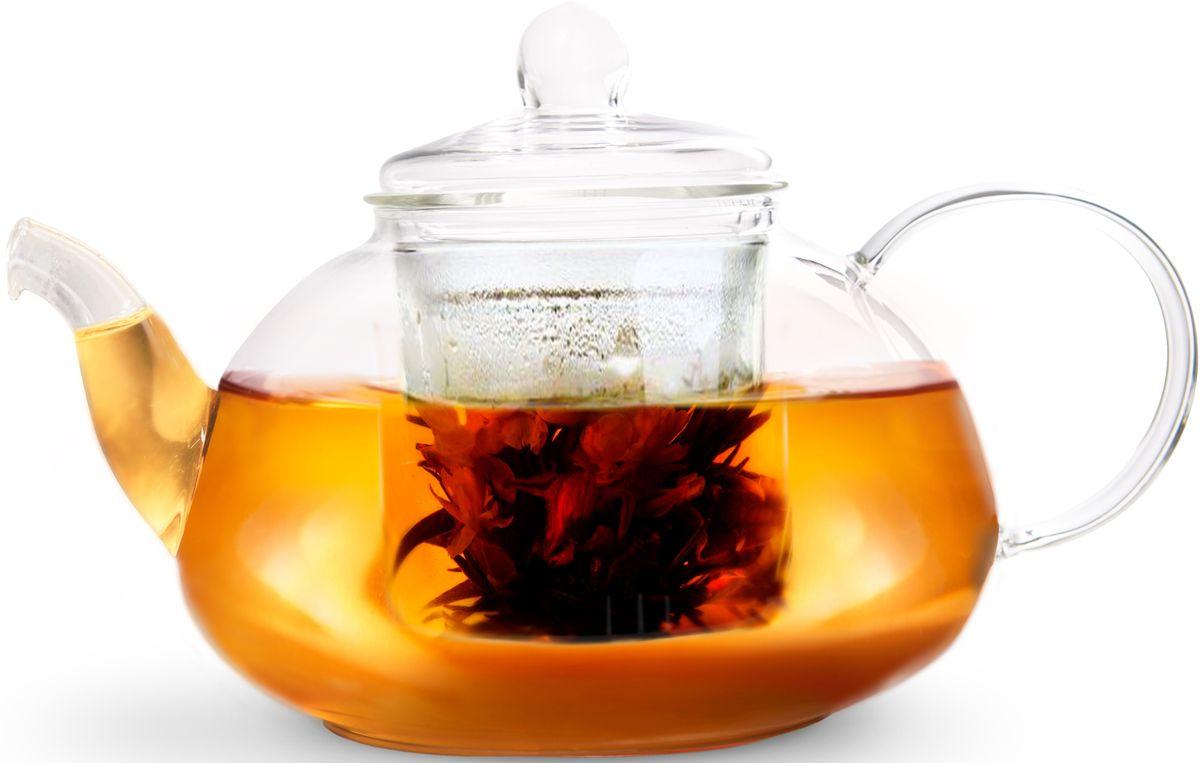 Заварочный чайник Fissman Lucky, со стеклянным фильтром, 1000 мл. 9365TP-9365.1000