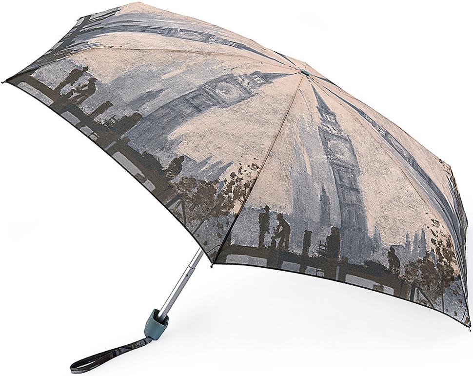Зонт женский Fulton, механический, 5 сложений, цвет: бежевый, серый. L794-2728L794-2728 MonetThamesBelowСтильный механический зонт Fulton имеет 5 сложений, даже в ненастную погоду позволит вам оставаться стильной. Легкий, но в тоже время прочный алюминиевый каркас состоит из шести спиц с элементами из фибергласса. Купол зонта выполнен из прочного полиэстера с водоотталкивающей пропиткой. Рукоятка закругленной формы, разработанная с учетом требований эргономики, выполнена из каучука. Зонт имеет механический способ сложения: и купол, и стержень открываются и закрываются вручную до характерного щелчка.