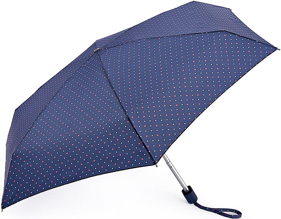 Зонт женский Fulton, механический, 5 сложений, цвет: синий. L501-3364L501-3364 PolkaHeartСтильный механический зонт Fulton имеет 5 сложений, даже в ненастную погоду позволит вам оставаться стильной. Легкий, но в тоже время прочный алюминиевый каркас состоит из шести спиц с элементами из фибергласса. Купол зонта выполнен из прочного полиэстера с водоотталкивающей пропиткой. Рукоятка закругленной формы, разработанная с учетом требований эргономики, выполнена из каучука. Зонт имеет механический способ сложения: и купол, и стержень открываются и закрываются вручную до характерного щелчка.