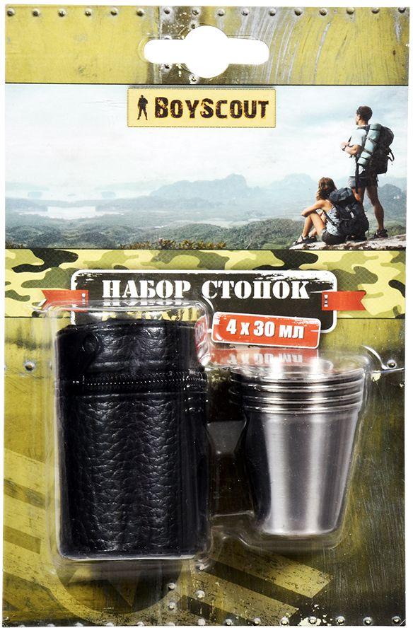Набор стопок Boyscout, в чехле, 30 мл, 4 шт61114Для использования на пикнике, в походе. Для хранения предусмотрен чехол.