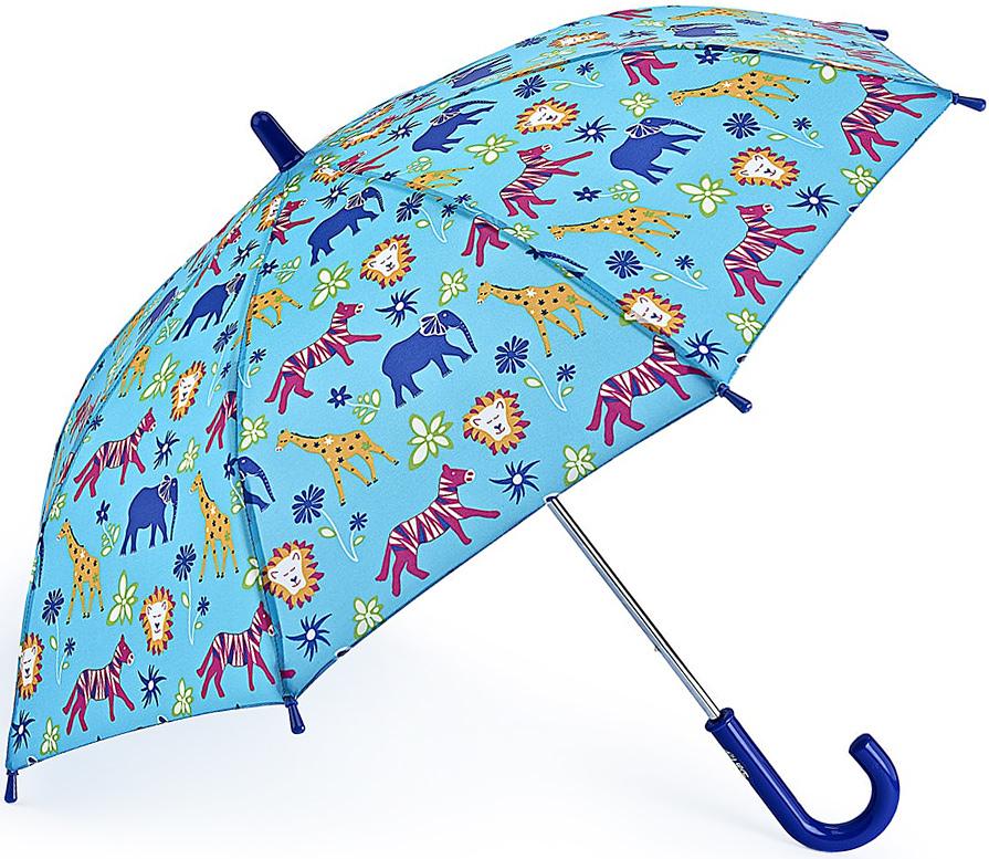 Зонт-трость детский Fulton, механический, цвет: голубой. C724-3390C724-3390 JungleChumsЯркий механический зонт-трость Fulton даже в ненастную погоду позволит вашему ребенку оставаться стильным. Каркас зонта включает 8 спиц из фибергласса. Стержень изготовлен из прочного алюминия. Купол зонта выполнен из качественного полиэстера. Рукоятка закругленной формы, разработанная с учетом требований эргономики, выполнена из качественного пластика. Зонт механического сложения: купол открывается и закрывается вручную до характерного щелчка. Такой зонт не только надежно защитит вас от дождя, но и станет стильным аксессуаром, который идеально подчеркнет ваш неповторимый образ.