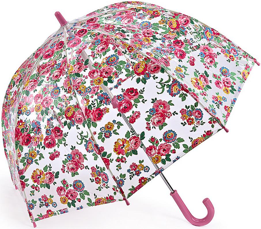 Зонт-трость детский Fulton, механический, цвет: розовый, прозрачный. C723-3301C723-3301 WellRoseЯркий механический зонт-трость Fulton даже в ненастную погоду позволит вашему ребенку оставаться стильным. Каркас зонта включает 8 спиц из фибергласса. Стержень изготовлен из стали. Купол зонта выполнен из износостойкого ПВХ. Рукоятка закругленной формы, разработанная с учетом требований эргономики, выполнена из качественного пластика. Зонт механического сложения: купол открывается и закрывается вручную до характерного щелчка. Такой зонт не только надежно защитит вас от дождя, но и станет стильным аксессуаром, который идеально подчеркнет ваш неповторимый образ.