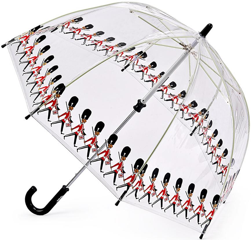 Зонт-трость детский Fulton, механический, цвет: черный, прозрачный. C605-3323C605-3323 GuardsЯркий механический зонт-трость Fulton даже в ненастную погоду позволит вашему ребенку оставаться стильным. Каркас зонта включает 8 спиц из фибергласса. Стержень изготовлен из стали. Купол зонта выполнен из износостойкого ПВХ. Рукоятка закругленной формы, разработанная с учетом требований эргономики, выполнена из качественного пластика. Зонт механического сложения: купол открывается и закрывается вручную до характерного щелчка. Такой зонт не только надежно защитит вас от дождя, но и станет стильным аксессуаром, который идеально подчеркнет ваш неповторимый образ.