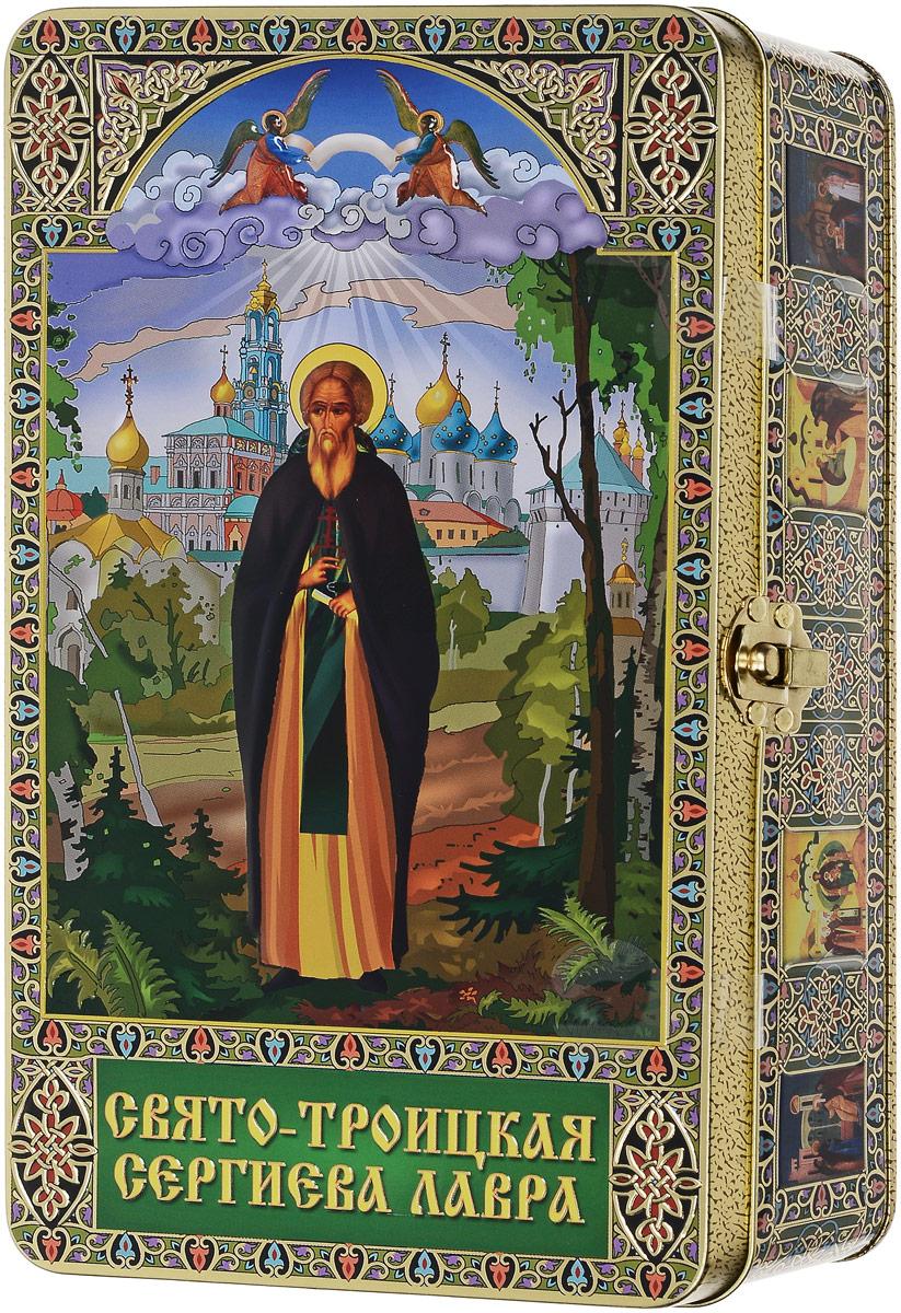 Вера, Надежда, Любовь Сергий Радонежский подарочный черный листовой чай, 300 г