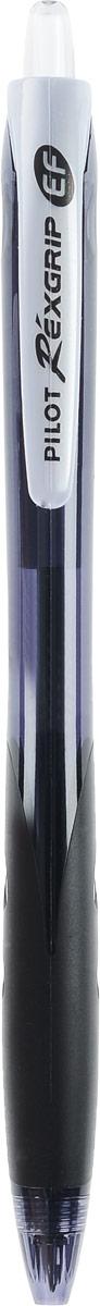 Pilot Ручка шариковая Rexgrip цвет чернил черный 0,5 ммBPRG-10R-EF-BШариковая ручка Pilot Rexgrip представлена в полупрозрачном черном корпусе с прорезиненной вставкой в месте обхвата. Ручка имеет ультрасовременную обтекаемую форму. Диаметр шарика - 0,5 мм, Толщина линии - 0,25 мм. Цвет чернил - черный.