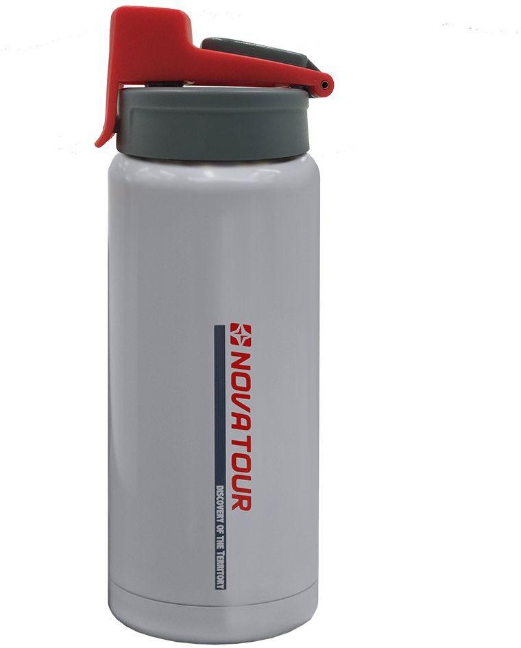 Термофляга Nova Tour Стрим 500, цвет: серый, 0,5 л95444-974-00Термофляга для путешественниковиз нержавеющей стали с резиновой накладкой, объемом 0,5 л