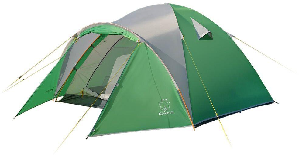 Палатка Greenell Дом 4 V2, цвет: зеленый, светло-серый95970-364-00Размеры данной модели позволяет чувствовать себя очень комфортно не только во время сна, но и при дневном укрытии от непогоды. Антимоскитные сетки на входе и окнах защитят от назойливых насикомых. Объемный тамбур позволяет разместить не только обувь, но и часть снаряжения. Возможна установка без тента.