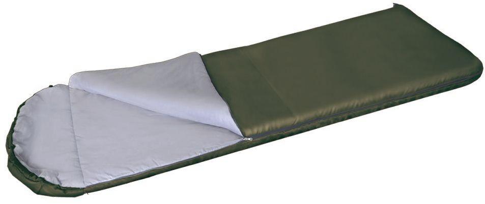 Спальный мешок Greenell Рахан -4, цвет: хаки, правая молния95979-504-00Благодаря простоте конструкции, спальные мешки легко превращаются в двух спальные одеяла, которые можно использовать не только на природе, но и на даче. Для этой модели предусмотрен подголовник, который с помощью встроенного шнура легко превращаются в теплый капюшон.