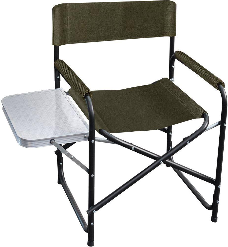 Стул складной Greenell FC-18 R22, с подлокотниками и столом, цвет: хаки, 120 кг95980-502-00Классическая конструкция стула, проверенная временем. Складной стол придает дополнительный функционал стулу. Компактно складывается.