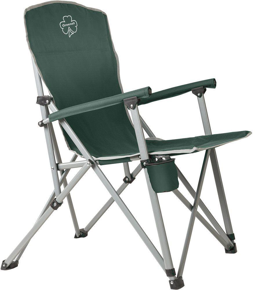 Кресло складное Greenell FC-7 V2, цвет: зеленый, 150 кг95983-325-00Удобный кресло для отдыха. Стальной каркас кресла рассчитан на нагрузку до 150 кг. Компактно складывается в чехол.