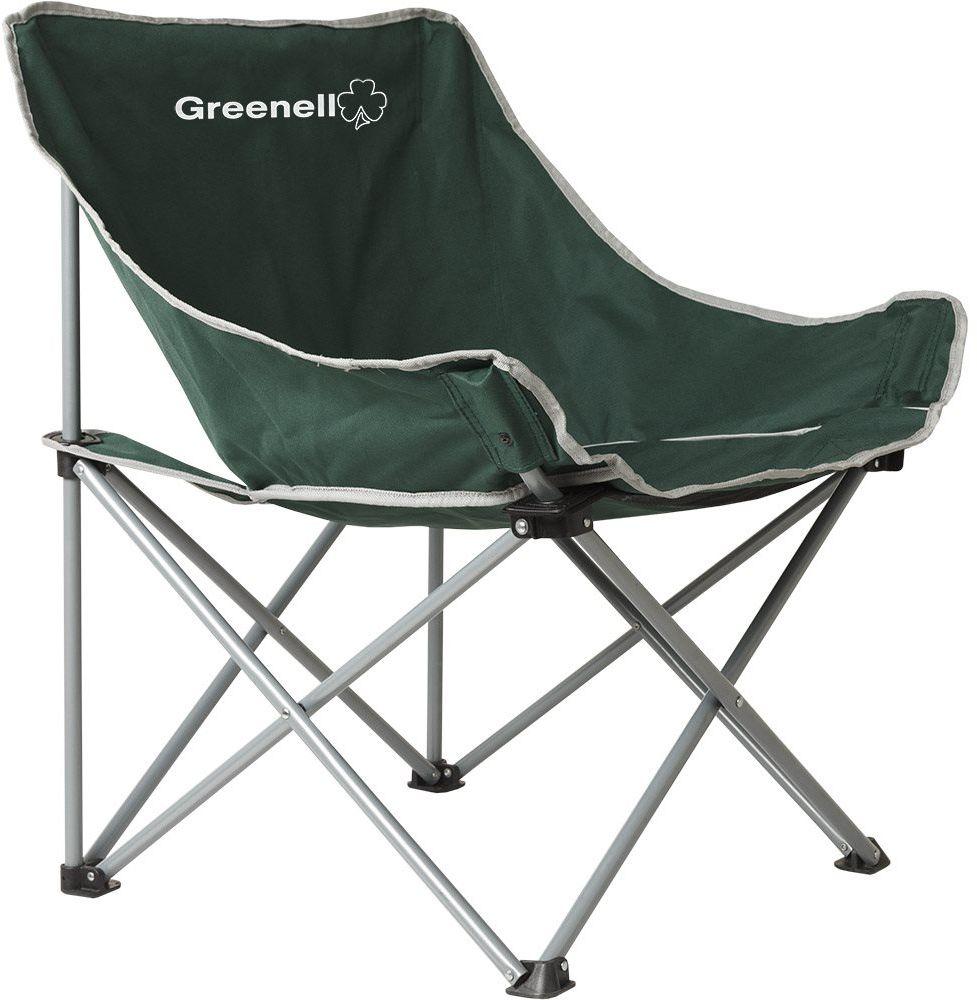 Кресло складное Greenell Луна FC-21, цвет: зеленый, 120 кг95986-325-00Компактно складывается, имеет небольшие размеры в чехле.
