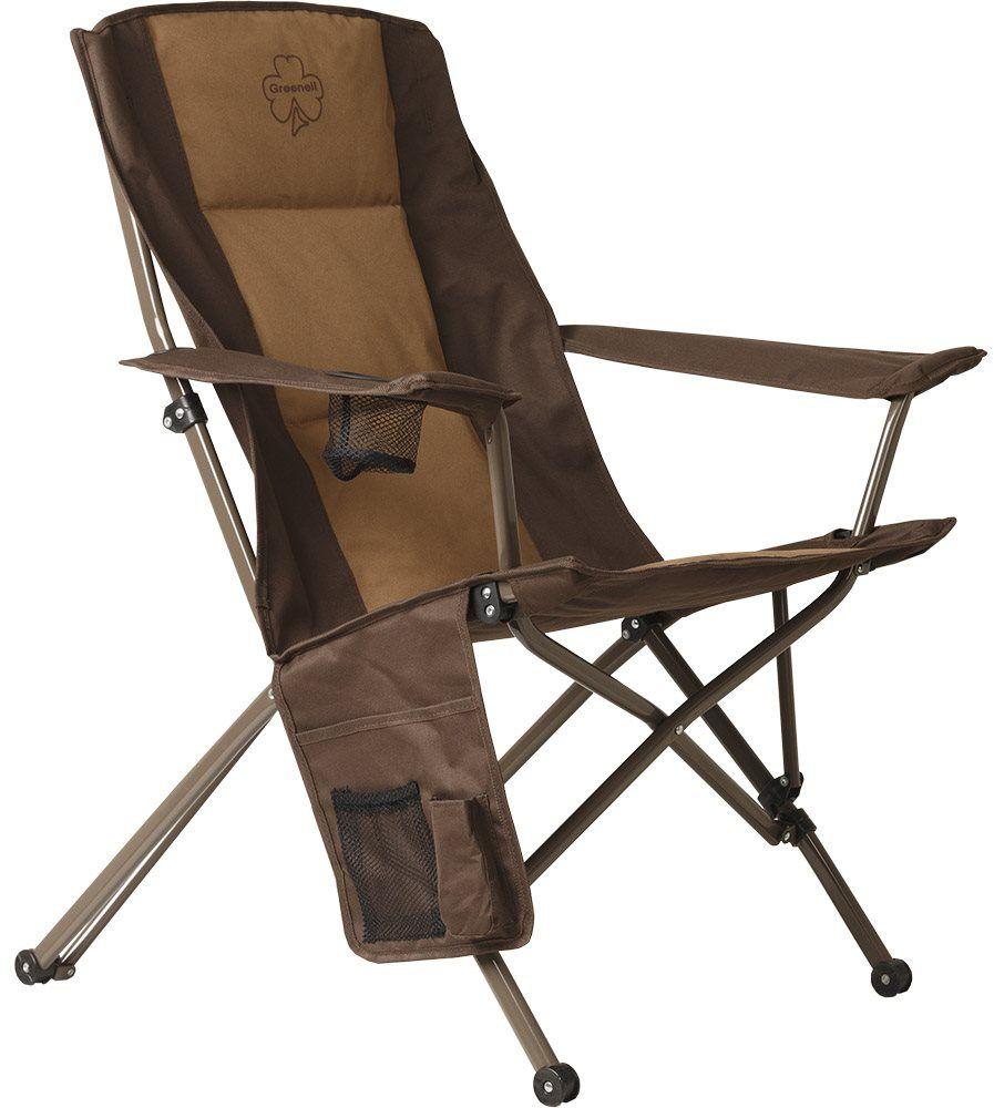 Стул складной Greenell Элит FC-25, цвет: коричневый, 140 кг95995-232-00Кресло для больших людей со стальным каркасом и широким сиденьем.