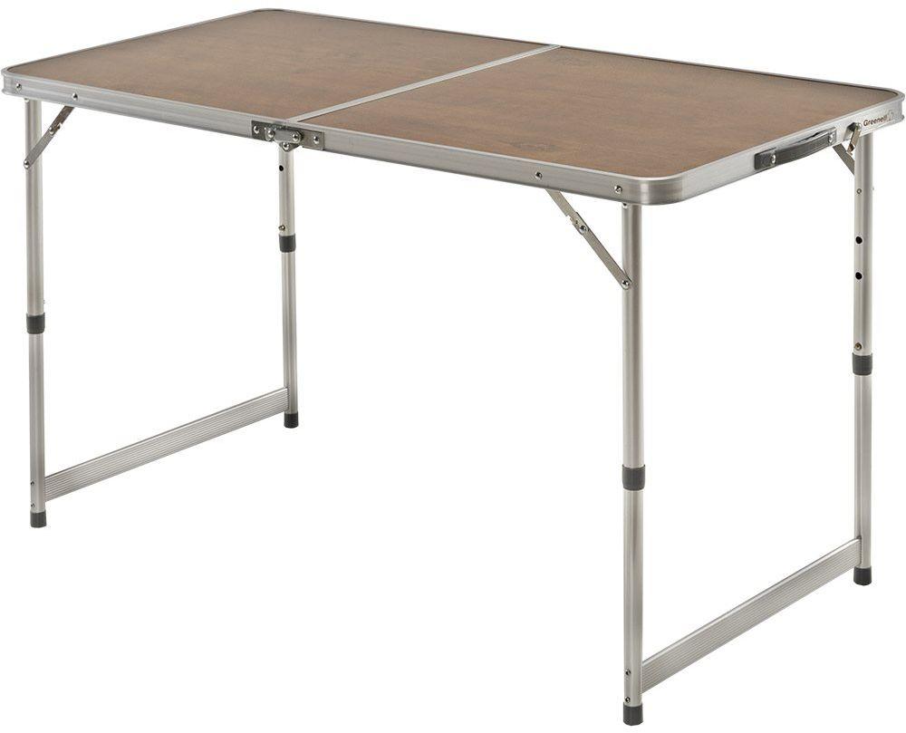 Стол складной Greenell FT-5 V2, цвет: коричневый, 30 кг96001-232-00Легко устанавливается и быстро складывается. Есть регулировка по высоте.