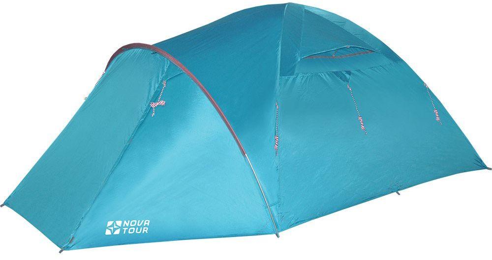 Палатка Nova Tour Терра 4 V2, цвет: нави96027-306-00Палатка для водного туризма